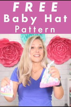 Get the FREE Baby Hat Sewing Pattern and make an adorable knit baby hat in 15 minutes! Comes in sizes preeemie - 24 months. Get the pattern now! Hat Patterns To Sew, Baby Quilt Patterns, Sewing Patterns For Kids, Sewing For Kids, Sewing Lessons, Sewing Tips, Sewing Tutorials, Sewing Ideas, Baby Winter Hats