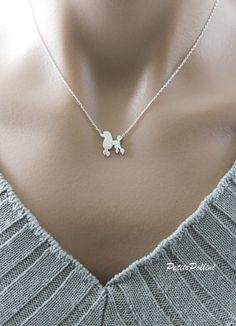 Hey, I found this really awesome Etsy listing at https://www.etsy.com/listing/256451626/poodle-necklace-in-silver-gold-cute