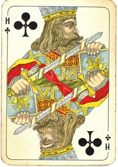 Dutch playing cards from 1920-1927: King of Clubs | Flickr - Photo Sharing!