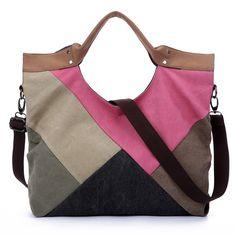 Moda gran capacidad de hombro bolsas patchwork vogue marca modelo grande vintage ocasional color block panel bolsos , bolsos(China (Mainland))
