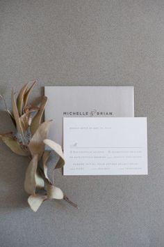 Oh So Beautiful Paper: Michelle + Brian's Timeless Silver Foil Wedding Invitations