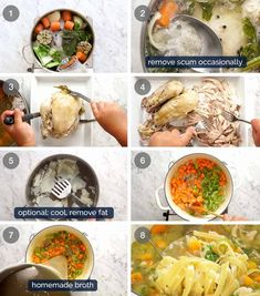 How to make Chicken Noodle Soup from scratch (whole chicken)