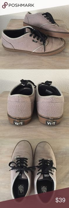 Atwood by Vans Tan and black Atwood men's sneaker by Vans. Good used condition - just a little dusty on the toes. Original box not included but they will be packed safely for shipping. No trades. Vans Shoes Sneakers