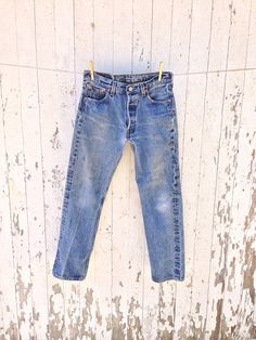 Levi 501xx High Waisted Jeans 29 waist Distressed Faded Festival Boho 80s on Etsy, $62.00