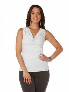 Cowl Neck Sleeveless Top #holidaycontest rafaellasportswear.com