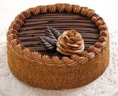 """Cake """"Prague"""" will be a great idea for an evening date. Nobody will refuse this classic cake! Russian Cakes, Russian Desserts, Eat Me Drink Me, Food And Drink, Black Forest Cake, Classic Cake, Gorgeous Cakes, Sweet Cakes, Creative Cakes"""