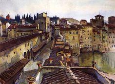 Zinaida Serebriakova, Florence. Ponte Vecchio  on ArtStack #zinaida-serebriakova #art