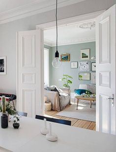 Color Crush: Sage Green Home Design: Interior Design Ideas for Contemporary Homeowners Coming up wit Living Room Modern, Home And Living, Living Room Decor, Living Spaces, Dining Room, Sage Living Room, Cozy Living, Kitchen Living, Small Living