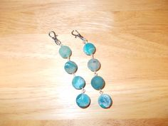 Drusy agate bag charms