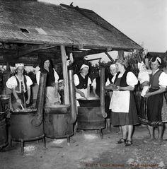 Lakodalmas ebéd-főzés - Rimóc, 1964  Fotó: Antal Károly / palocmuzeum.hu