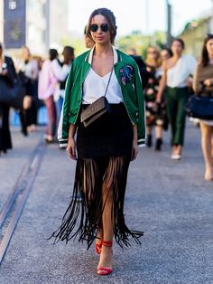 See our favorite ways to wear a fringe skirt, and then, of course, shop our picks.
