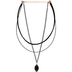 Three-Layer Black Bead Pendant Choker Necklace ($3.99) ❤ liked on Polyvore featuring jewelry, necklaces, layered necklace, double layer pendant necklace, choker pendants, choker necklace and pendant choker