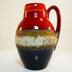 West German Pottery mid century vase by Scheurich 414/16 in best condition