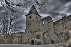 Frankenstein Castle, Darmstadt, (Germany)  This is home to the setting for Mary Shelley's Gothic horror novel, Frankenstein. This castle was the 18th century home of Lord Konrad Dippel Von Frankenstein. There are many theories about Dippel, including one that he sold his soul for eternal life.
