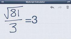 MyScript Calculator, resultados de operaciones matemáticas realizadas a mano