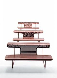EL POETA - Public bench / original design / steel / by alfredo häberli by BD Barcelona Design Bench Furniture, Urban Furniture, Street Furniture, Space Saving Furniture, Furniture Design, Outdoor Furniture, Office Furniture, Design Tisch, Public Seating