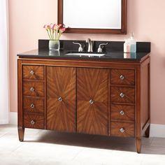 """//Bathroom / Vanity / Art Deco//  49""""+Allerton+Vanity+for+Rectangular+Undermount+Sink"""