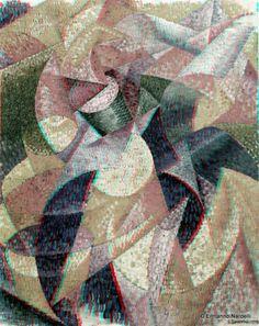 Gino Severini - Ballerina + mare (1913) – Artwork Stereoscopic 3D - Ermanno Nardelli