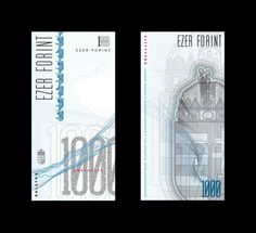 Graphic Design Class Assignment Inspiration: Pénz / Currency redesign - HUF by Virág Veszteg, via Behance