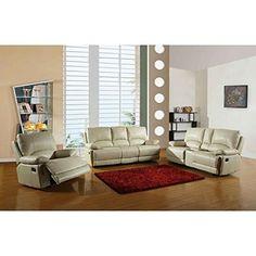 GU Industries 9345-FV-Beige 3PC CL Upholstered Sofa Set, Off White