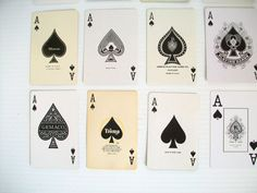 21 vintage Ace playing cards . ace of spades . instant collection of aces . supplies . collage supplies . ATC supplies . DIY business cards