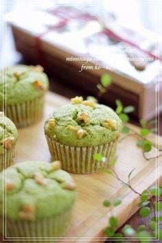 green tea white chocolate muffins