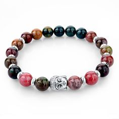 2015 Natural Stone Buddha Charm Bracelet Tiger Eye Beads Bracelets For Women and Men Jewelry SBR150171