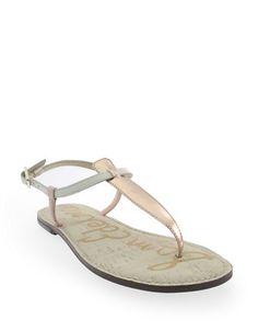 SAM EDELMAN Sam EdelmanGigi Metallic Leather Sandals. #samedelman #shoes #sandals