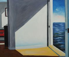 """""""Rooms by The Sea"""" by Edward Hopper; 20"""" x 24"""" hand painted oil painting reproduction on canvas #homedecor #nautical #art"""