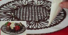 Comment fabriquer de magnifiques napperons de chocolat!