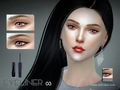 The Sims Resource: Eyeliner 03 by S-Club • Sims 4 Downloads