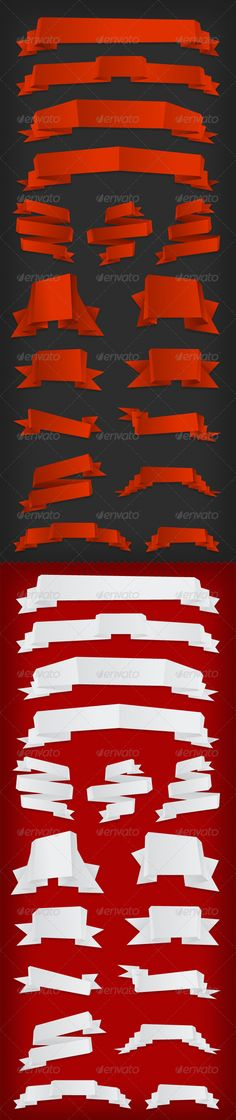 Paper Ribbons Pack $4.00 #vector