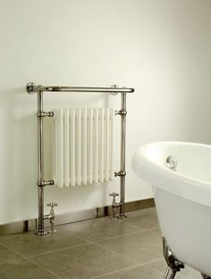Only Radiators proudly offers the DQ Heating Croxton Floor Mounted Traditional Heated Towel Rail to you at a great price, top Customer Care & Free UK Delivery Contemporary Radiators, Traditional Radiators, Bathroom Inspiration, Interior Inspiration, Bathroom Ideas, Decorative Radiators, Kitchen Rails, Bathroom Radiators, Towel Radiator