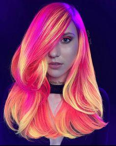Guy Tang ♡ My favourite hair artist. Neon Sunset ☆