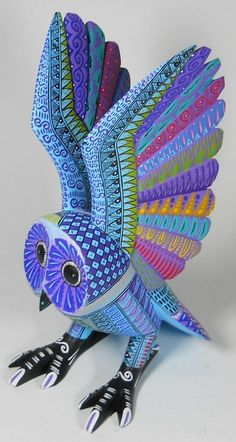 "Oaxacan Wood Carvings - ""Alebrijes"", Oaxacan Animals. Oaxacan craftsmanship. #MexicanArtists #LoveMexico http://gotomexico.co.uk/"