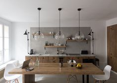 Cuisine Rue des Marthyrs - Façade bois - Baldini Architecture - GCG