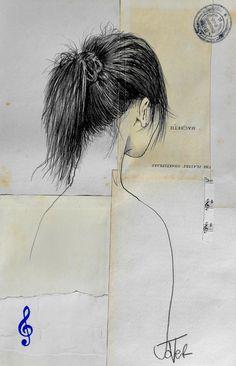 "Saatchi Online Artist: Loui Jover; Pencil 2013 Drawing/collage ""macbeth"""