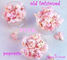 Pink Popcorn | Cravings of a Lunatic | #pinkpopcorn #pink #popcorn #candy #snacks
