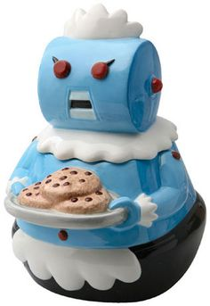 "The Jetsons ""Rosie the Robot"" Cookie Jar [Ceramic. Measures 10 1/4""H.]~[©Warner Brothers]'h4d'121106"