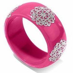 Pink Bangle Bracelet Gift Jewelry Silver THANKSGIVING GIFT XMAS HANUKKAH