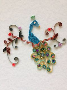 Quilled Peacock by jgaCreations on Etsy, $25.00