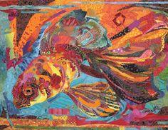 Not-so-Goldfish quilt, 2006 36x22 Susan Carlson