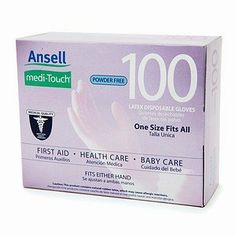 Ansell Medi-Touch Powder Free Latex Disposable Gloves, Medium 50 ea by Ansell. $9.95. Meets United States A.S.T.M. Quality Standards. Original Medi-Touch® Medical Quality Powder Free Latex Disposable Gloves.50 ~ Medium.First Aid Care.Health Care.Baby Care. A word about Ansell and these very special gloves!For over 80 years, Ansell has dedicated itself to producing high quality gloves designed for each job you may require your hands to perform. Ansell gloves ha...