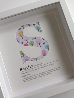 Personalised Name Meaning / Origin paper cut print