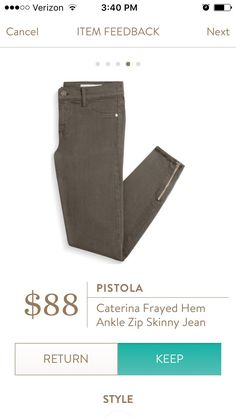 pistola caterina | Pistola caterina frayed hem ankle zip skinny jean. I love Stitch Fix ...
