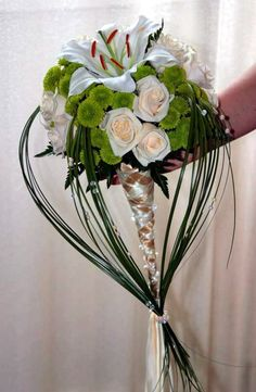 I like how they're tied at the bottom.  It's a looks really cool.    Wedding Bouquet0
