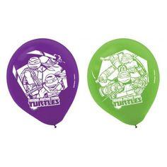 "Teenage Mutant Ninja Turtles 12"" Printed Latex Balloons - Party Depot"