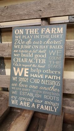 Custom Carved Wooden Sign  On The Farm We Play In by HayleesCloset