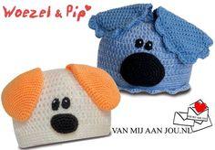 newborn baby en peutermaat - voor meisjes en jongens - woezel en pip muts - muts op bestelling gehaakt - met de hand op maat en kleur gehaakt - www.vanmijaanjou.nl -