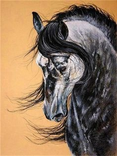 Become an artist and paint a majestic horse picture that you would be proud to have as your décor. 🚛 FREE SHIPPING IN USA! 🚛 Includes: 1 x 50x40cm (20X16inch) Canvas - color numbered 3 x Paintbrush (1 big,1 middle,1 small) 1 set paints 2 x Non-trace hook 2 x screw NOTE: NO FRAME INCLUDED Attention: This NOT a finished painting, you need to paint it yourself. Painted Horses, Pretty Horses, Beautiful Horses, Majestic Horse, Horse Drawings, Animal Drawings, Horse Artwork, Horse Paintings, Horse Canvas Painting